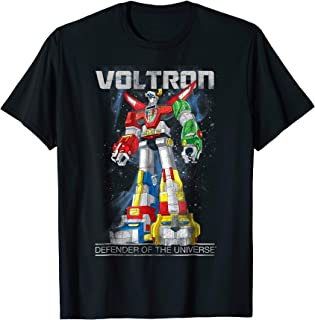 Voltron Retro Defender Space Distressed Graphic T-Shirt