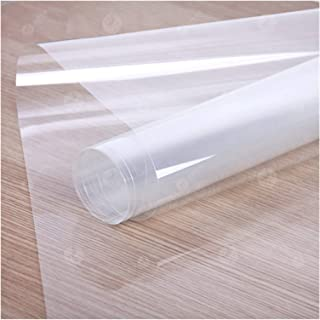 Penlingpl 100FT 4mil/0.1mm Clear Safety Security Car Sun Shade Window Tint Film Anti Shatter Glass Protection for Glass Wi...