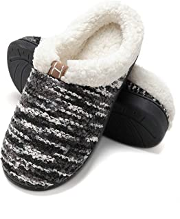 FLY HAWK Pantofole Invernali Uomo Scamosciate Caldo da Casa Interne - Ciabatte in Peluche Ultra-Morbido Soft, Pantofole Uo...