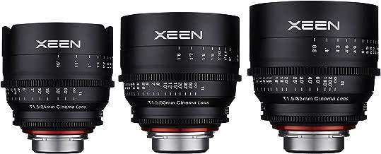 Rokinon Xeen 24mm, 50mm, 85mm T/1.5 Pro Cine Lens Bundle (for Video DSLR Canon EF Cameras)