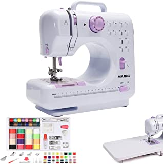 Sewing Machine, 12 Stitches, Extension Table, DVD Instruction, Special Thread Box Set for Sewing Machine