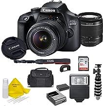 $337 » Canon EOS 4000D DSLR Camera w/Canon EF-S 18-55mm F/3.5-5.6 III Zoom Lens + Case + 32GB SD Card+ More+ TopKnotch Cloth