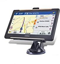 Trucking GPS Navigation 9inch Truck GPS Big Touchscreen 8GB ROM SAT NAV System Navigator Driving Alarm Lifetime Map Updates Truck GPS Navigation System for Trucks