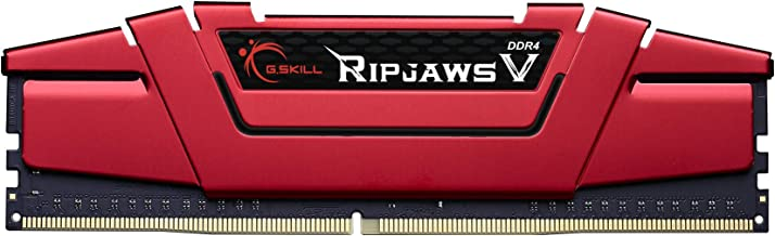 G.Skill Ripjaws V Gaming Serisi CL16 (16-18-18-38) Alüminyum Soğutuculu 1.35V Bellek Modülü, 1x16GB, 3000 MHz, Kırmızı