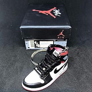 b9387c116936 Air Jordan 1 I High Retro NRG Not For Resale Red OG Sneakers Shoes 3D  Keychain