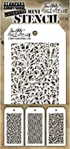 Stampers Anonymous_AGW Tim Holtz Mini Stencil Set 26, synthetisch materiaal, 8,5 x 9,1 x 0,1 cm