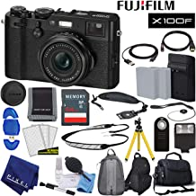 $1299 Get Fujifilm X100F X-Series 24.3 MP Point & Shoot Digital Camera (Black) with Cleaning Kit, 64GB Card and More Advanced Bundle