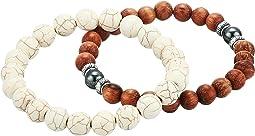 Consciousness Howlite Duo Bracelet Set