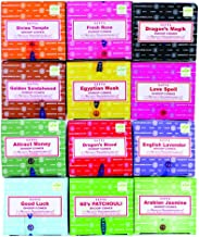 Nag Champa Satya Sai Baba Temple Incense Cones Carton, 12 Box (Assorted)