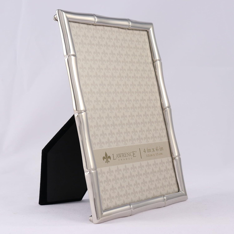 Lawrence Frames Cast Metals 4x4 Gold Bamboo Design Frame