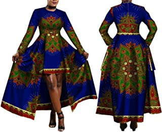 2019 African Dresses for Women Print Batik Sexy Long Dress Traditional Clothing