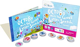 Octobo and The Great Letter Search Interactive Storykit - Storybook with 26 Story-Guided Interactive Letter Tokens, & 8 Le...