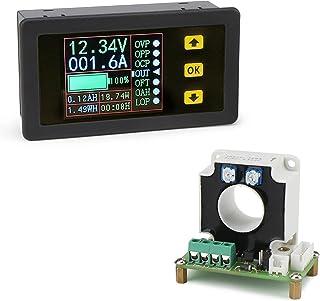 Droking Multifunktionales digitales Messgerät, 0 100A 10 90V Spannung Stromkapazität Stromüberwachung Multimeter Lade  / Entladebatterietester mit LCD Farbbildschirm