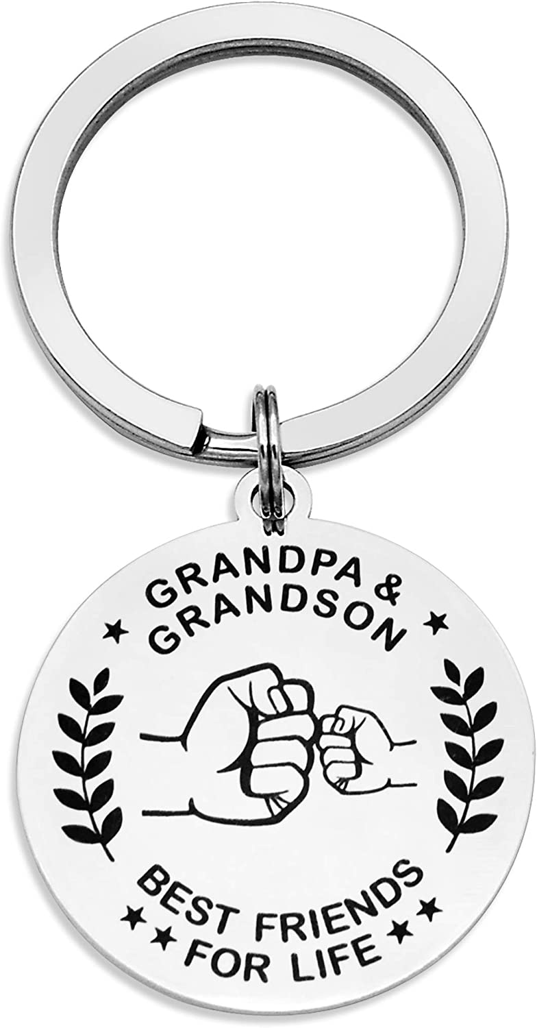 Keychain for Uncle Grandma Grandpa New color Luxury goods Granddaughter Be and Grandson