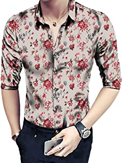 Shirt for Men Floral Digital Printed Un Stitched Shirt 2.4 mtr