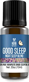 Good Night Sleep Essential Oil Blend - Pure and Natural Ingredients, Therapeutic Grade - for Natural Sleep Aid, Relaxation, Stress and Boost Mood (USA) - 10ml