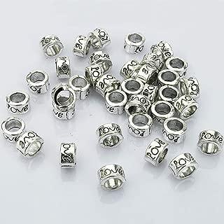 silver european beads