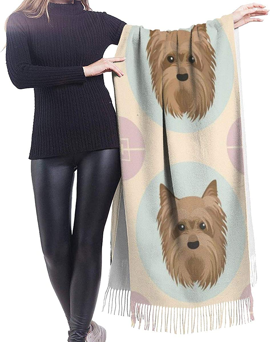 Yorkshire Terrier Cashmere Shawl Wrap Scarf Large Warm Scarf For Women