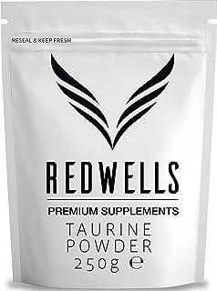 REDWELLS 250g Pure Taurina Powder Sin aditivos