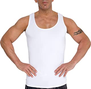 LISH Men's Slimming Light Compression Tank Top Shirt - Sleeveless Body Shaper Shirt for Weight Loss