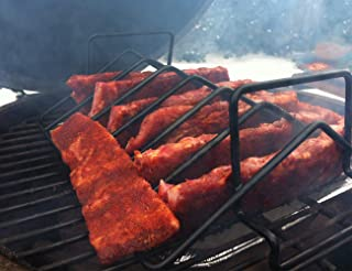 BBQ Rib Racks for Smoking and Grilling,Roast Rack Dual Purpose fit for Big Green Egg and Kamado Joe ,18 inches and bigger grill