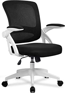 Office Chair Ergonomic DeskComputerChair Mesh Computer Chair with Flip Up Arms Lumbar Support and Mid Back Task Home Off...