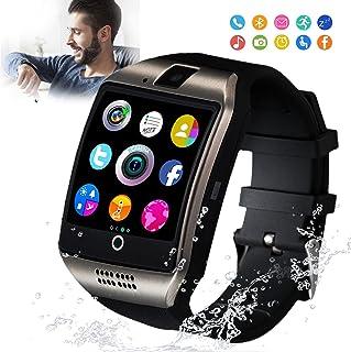 Reloj inteligente, reloj inteligente para teléfonos Android, relojes inteligentes con pantalla táctil con cámara, reloj Bluetooth, teléfono con ranura para tarjeta SIM, reloj para teléfono celular, compatible con Android, Samsung, iOS, teléfono XS, X8, 10, 11, hombres y mujeres