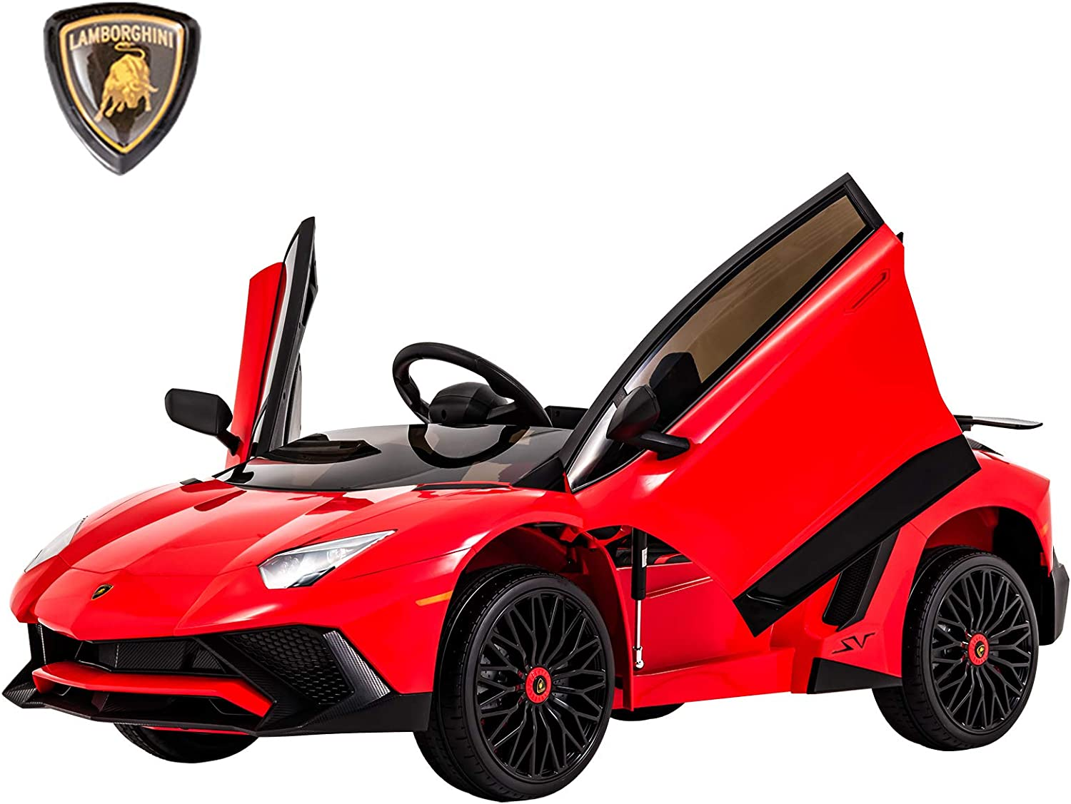 Uenjoy Compatible with with with Lamborghini Licensed 12V