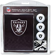 Team Golf NFL Oakland Raiders Gift Set Embroidered Golf Towel, 3 Golf Balls, and 14 Golf Tees 2-3/4