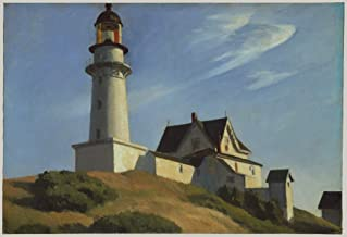 Edward Hopper - The Lighthouse at Two Lights, Size 24x36 inch, Poster Art Print Wall décor