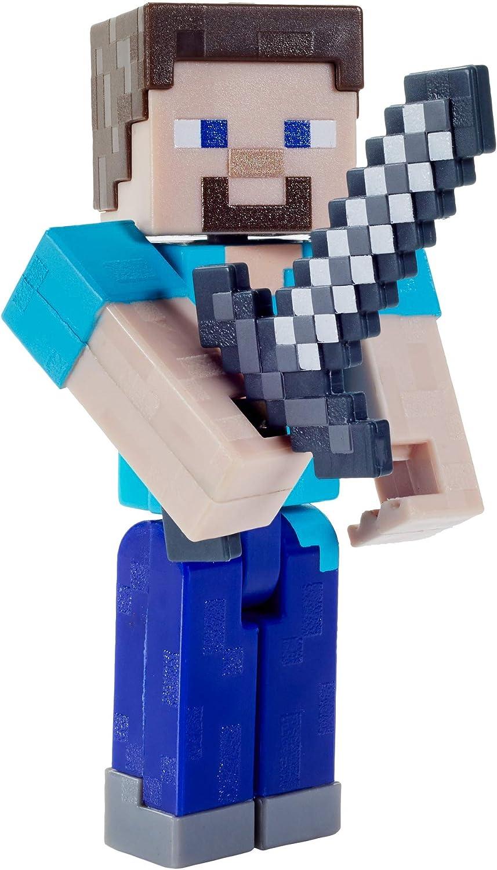 Minecraft Craft-A-Block Assortment Figures, Authentic Pixelated Multicolor