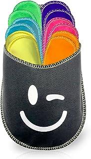 diMio - Set di pantofole 13 pezzi, misura 34-45, colori assortiti con custodia