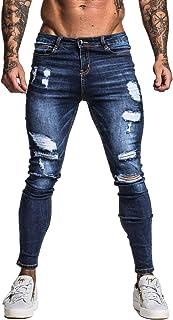 (ジンット)GINGTTO ジーンズ メンズ ダメージジーンズ メンズ スキニーパンツ 美脚 細身
