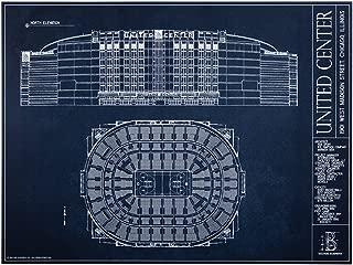 United Center Blueprint Style Print