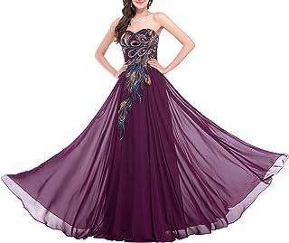 GRACE KARIN Donna Elegante Vestiti da Matrimonio Abito in Chiffon Lunghi Vestito Formale Sera da Cerimonia Bridesmaids