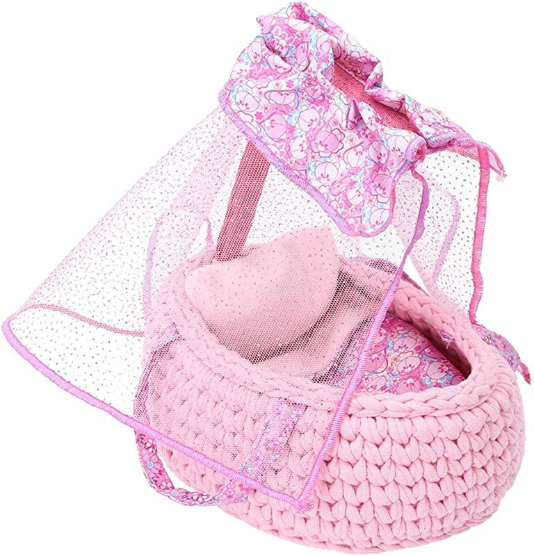 Distroller Pink New Bassinet Ksimerito Crib Bambineto Rosa Nerlie Neonate Baby Doll Accesories
