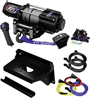KFI Combo Kit - U45w-R2 4500lbs Winch & Mount Bracket - Kawasaki KAF820-820 Mule Pro-FX, Pro-FXR, Pro-FXT