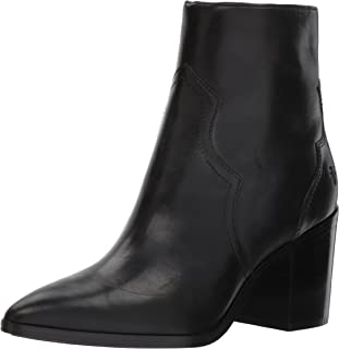 FRYE Women's Flynn Short Inside Zip Ankle Bootie, Black, 10 M US