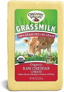Organic Valley, Organic Grassmilk Raw Cheddar Cheese - 8 oz Block (Individually Wrapped)