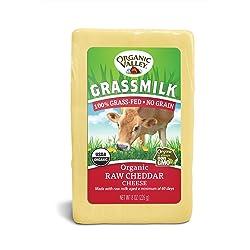 Organic Valley, Organic Grassmilk Raw Cheddar Cheese
