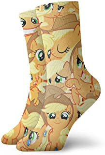 eneric, My Rainbow Pony Socks Crew Funny Casual Unisex Adulto Niños Anime Impresión Tobillo Niño Acogedor Calcetín Cool 90