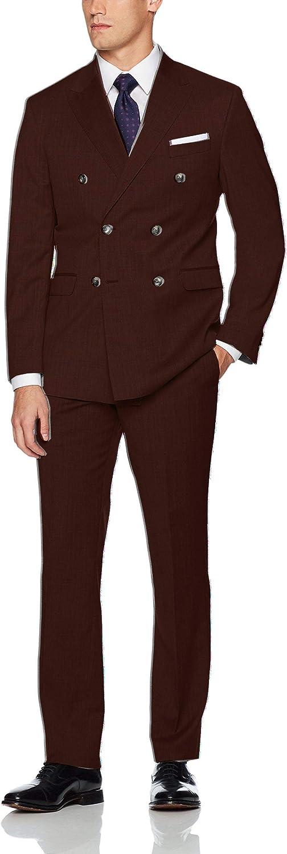 Frank Men's Men's Classic Fit 2 Piece Suit Blazer Jacket Tux & Flat Pants Set