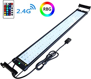 COODIA Aquarium Hood Lighting Color Changing Remote Controlled Dimmable RGBW LED Light..