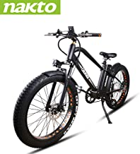 """NAKTO Electric Bike City Electric Bikes for Adults 6 Speed Ebike (220W/250W/300W/500W) with 36V10AH/48V12AH Removable Lithium Battery and 1 Year Warranty, (20""""/22"""