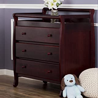 Dream On Me Liberty Collection 3 Drawer Changing Table, Cherry