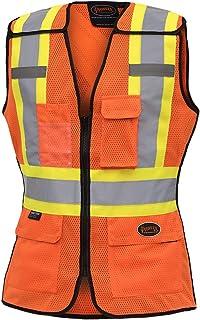 Pioneer Hi Vis Breathable 5 Point Tear-Away Women Safety Vest