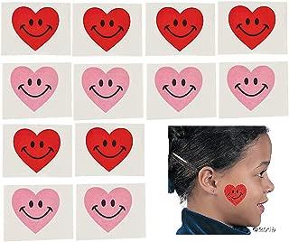 72 Valentine Smiley Heart Party Favor TATTOOS - Valentine's Day - Classroom TEACHER Rewards