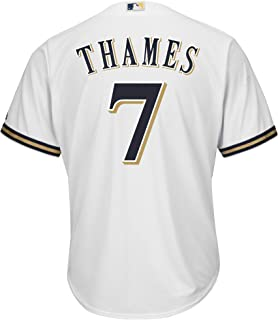 Eric Thames Milwaukee Brewers White Youth Cool Base Home Replica Jersey