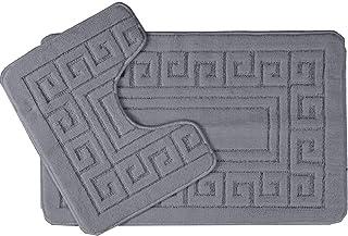 EDS nowy grecki styl 2-częściowy zestaw mat łazienkowych antypoślizgowy 13 kolorów (węgiel drzewny)