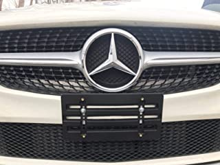 License Plate Tag Holder Mount Mounting Relocator Adapter for Front Bumper Kit Bracket for MERCEDES-BENZ (All Models) Quantity Discount (9.95$ to 6.50$) (each with 6 Unique Screws+2 Washers+Wrench)(1)